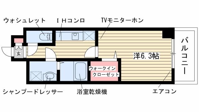 神戸市東灘区魚崎北町(JR東海道本線(近畿)摂津本山)のマンション間取画像