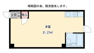 神戸市中央区山本通(JR東海道本線(近畿)元町)のマンション間取画像