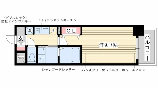 神戸市中央区日暮通(阪急神戸線春日野道)のマンション間取画像