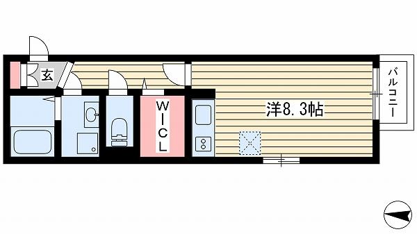 神戸市北区谷上西町(神戸電鉄有馬線谷上)のハイツ間取画像