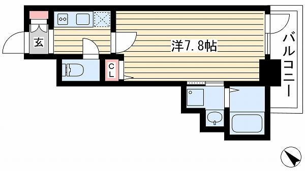 神戸市兵庫区小河通(JR山陽本線兵庫)のマンション間取画像