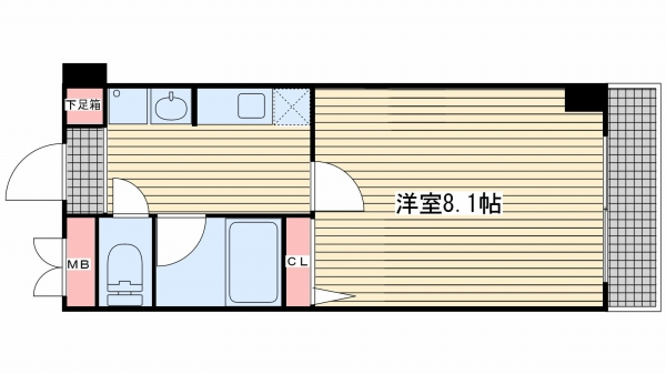 神戸市中央区雲井通(JR東海道本線(近畿)三ノ宮)のマンション間取画像