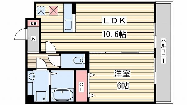 神戸市西区前開南町(神戸市営地下鉄線伊川谷)のアパート間取画像
