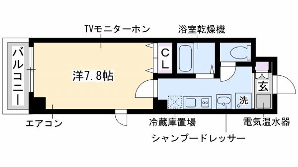 神戸市東灘区深江本町(阪神本線深江)のマンション間取画像