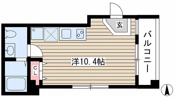 神戸市中央区加納町(神戸市営地下鉄線三宮)のマンション間取画像