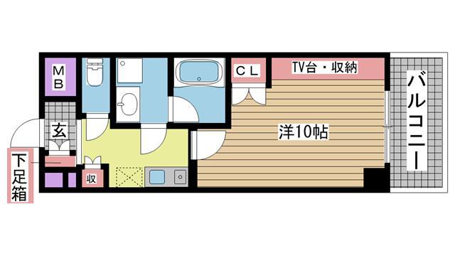 神戸市東灘区御影石町(阪神本線石屋川)のマンション間取画像