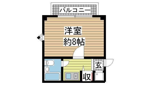 神戸市中央区下山手通(神戸高速線花隈)のマンション間取画像