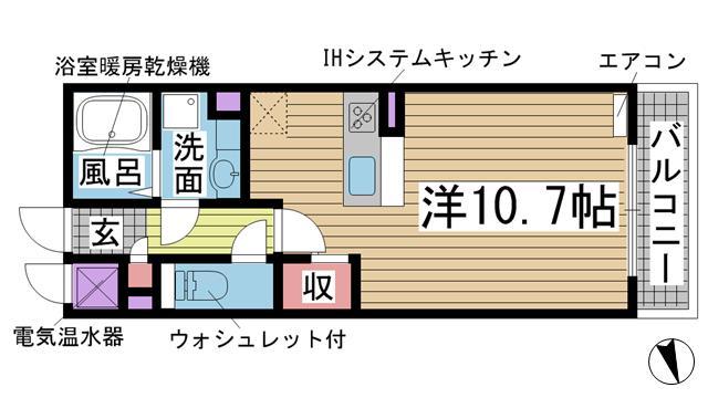 神戸市東灘区本山中町(JR東海道本線(近畿)甲南山手)のハイツ間取画像