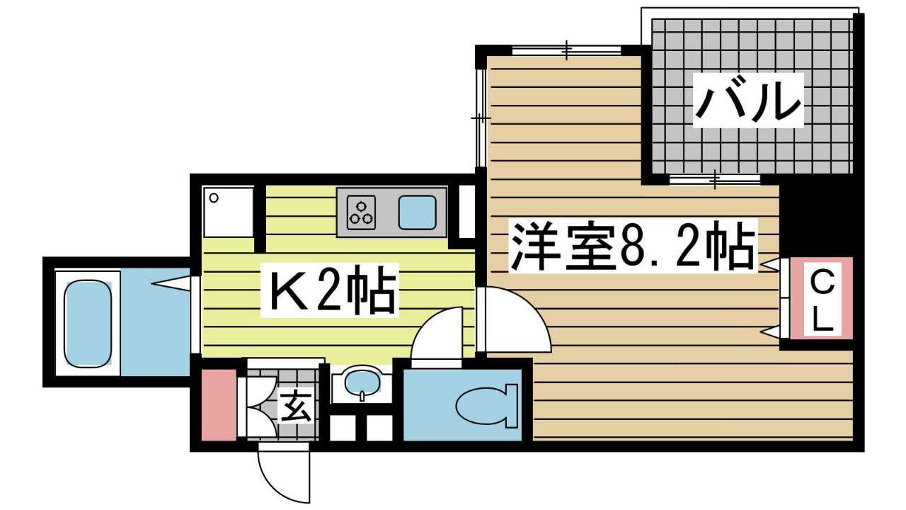 神戸市中央区元町通(JR東海道本線(近畿)元町)のマンション間取画像