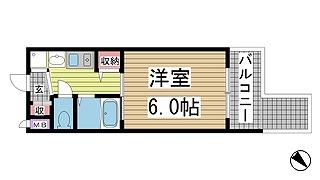 神戸市中央区東川崎町(JR東海道本線(近畿)神戸)の分譲賃貸マンション間取画像