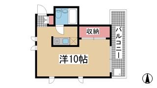 神戸市中央区二宮町(JR東海道本線(近畿)三ノ宮)のマンション間取画像