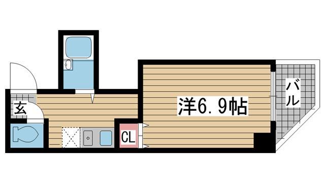 神戸市灘区森後町(JR東海道本線(近畿)六甲道)のマンション間取画像