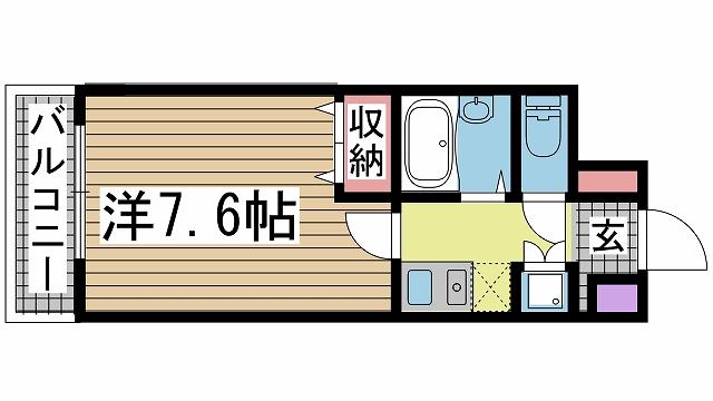 神戸市灘区弓木町(JR東海道本線(近畿)六甲道)のマンション間取画像