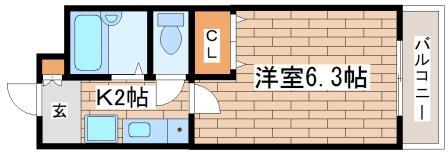 神戸市須磨区大池町(神戸市営地下鉄線板宿)のマンション間取画像