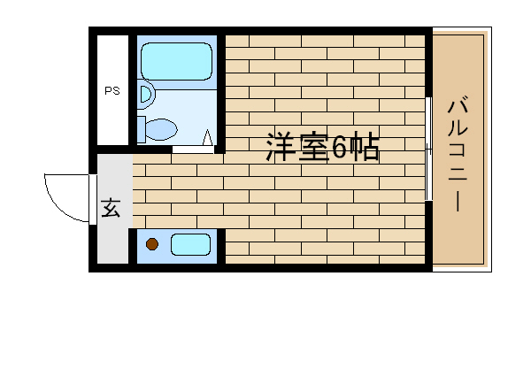神戸市須磨区千守町(JR山陽本線須磨)のマンション間取画像