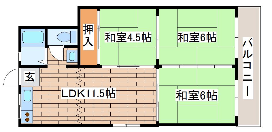 神戸市長田区腕塚町(神戸市営地下鉄海岸線駒ヶ林)のマンション間取画像