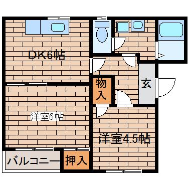 神戸市須磨区飛松町(神戸市営地下鉄線板宿)のマンション間取画像