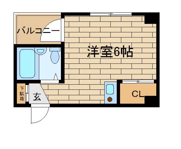 神戸市長田区若松町(神戸市営地下鉄海岸線新長田)のハイツ間取画像