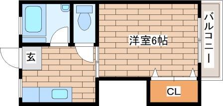 神戸市中央区中島通(JR東海道本線(近畿)三ノ宮)のマンション間取画像