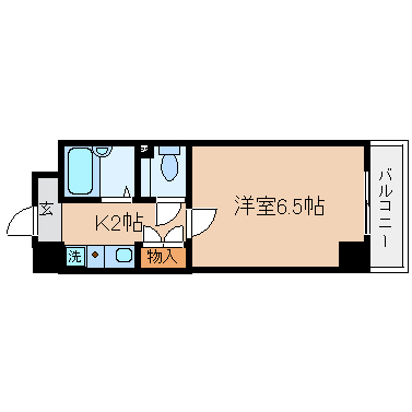 神戸市兵庫区西出町(JR東海道本線(近畿)神戸)の分譲賃貸マンション間取画像