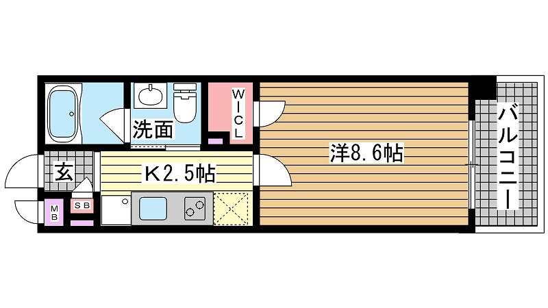 西宮市鳴尾町(阪神本線鳴尾)のマンション間取画像