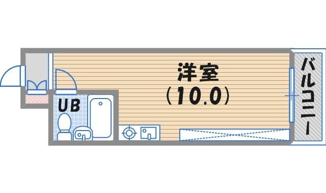 西宮市深津町(阪急神戸線西宮北口)のマンション間取画像