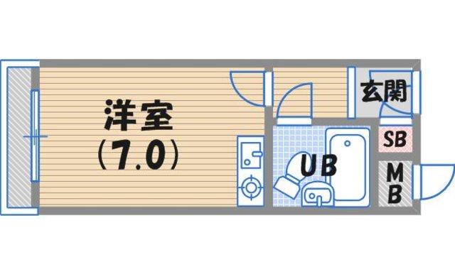 西宮市甲子園口(JR東海道本線(近畿)甲子園口)のマンション間取画像