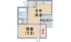 西宮市甲子園口北町(JR東海道本線(近畿)甲子園口)のマンション間取画像