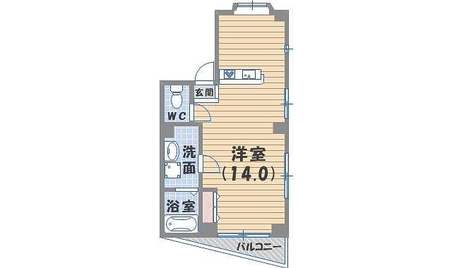 西宮市津門宝津町(阪神本線今津)のマンション間取画像