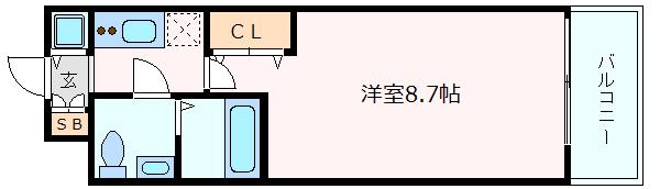 神戸市中央区磯上通(JR東海道本線(近畿)三ノ宮)のマンション間取画像