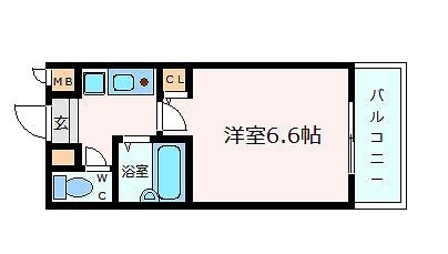 神戸市中央区熊内町(JR東海道本線(近畿)三ノ宮)のマンション間取画像