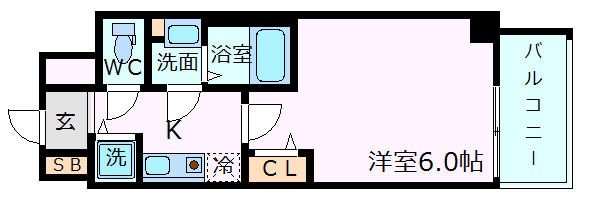 神戸市中央区琴ノ緒町(JR東海道本線(近畿)三ノ宮)のマンション間取画像