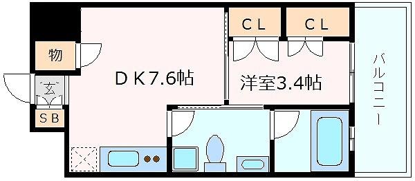 神戸市中央区下山手通(JR東海道本線(近畿)神戸)のマンション間取画像